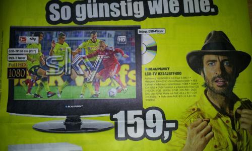 "Blaupunkt 23"" Full HD LCD mit integriertem DVD-Player + DVB-T + CI Slot für 159 Euro bei ProMarkt"