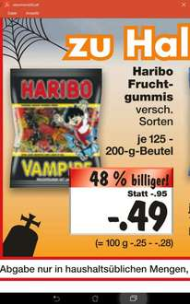 [Kaufland Kiel] ab 20.10. Haribo nur 0,49€ je Tüte