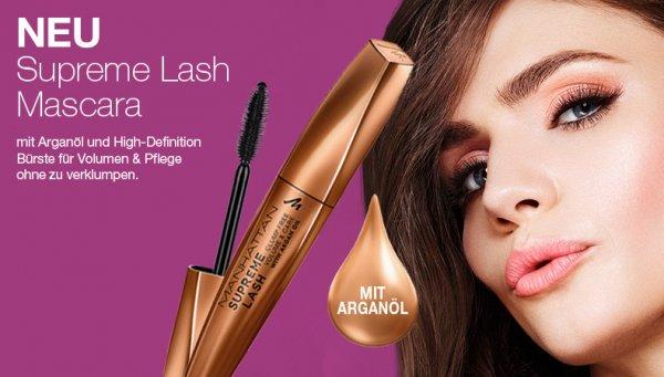 Gratis Supreme Lash Mascara im DM (drogeriemarkt) bei Kauf von 2 Manhattan Produkten