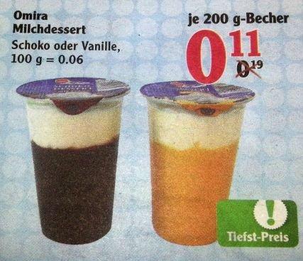 [GLOBUS BUNDESWEIT] KW43: Omira Schokopudding 200g Schoki/Vanillie nur 0,11€ nicht 0,19€ wie in Israel