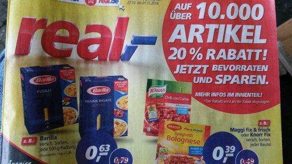 real,- KW44 - 20% auf Nährmittel! zB Barilla 0,63€!!