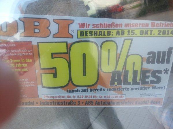 (lokal, Kandel) Ausverkauf 50% auf ALLES bei Obi.
