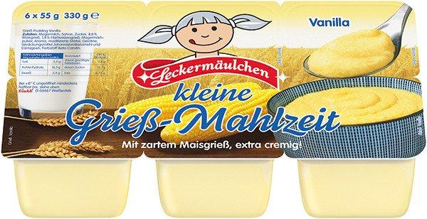 [Kaufland Berlin-Schöneweide] Leckermäulchen Grieß-Mahlzeit 6x55g für 33 Cent (66% Ersparnis)