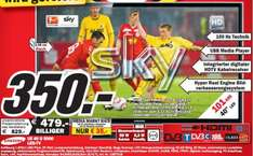 """Media Markt Neubrandenburg: Samsung UE40D5000 für 350€ !! (40"""" LED, DVB-T/C, LAN (+WiFi-Ready), 2x USB) und andere gute TV-Preise!"""