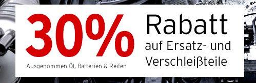 ATU - 30% auf alle Ersatz- & Verschleißteile - nur online und nur am 19.10.2014