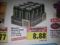 12 mal 0,5l Monster Energy Drink für 8.88€