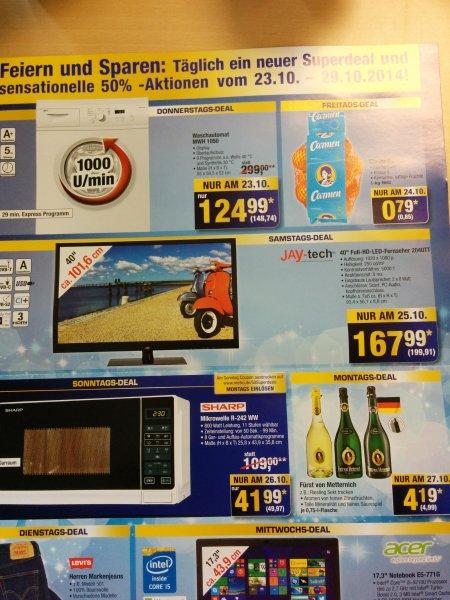 "Metro Superdeals nur am 25.10 jay-tech 40"" full HD LED TV"