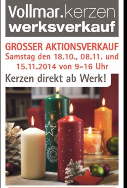 Vollmar Kerzenwerksverkauf Rheinbach 2,5€ das Kilo statt 3,50€