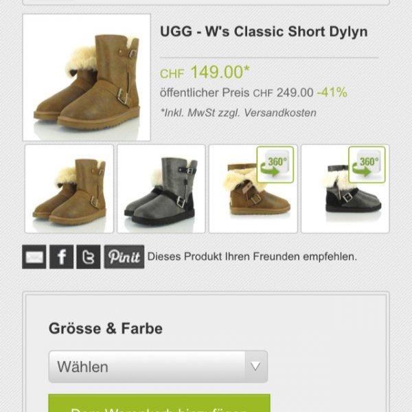 UGG WS CLASSIC SHORT DYLYN ca. 125€