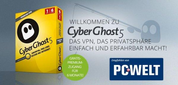 Cyberghost VPN Premium 6 Monate gratis nutzen .. Aktion läuft noch bis 31.10.2014 ...!!!