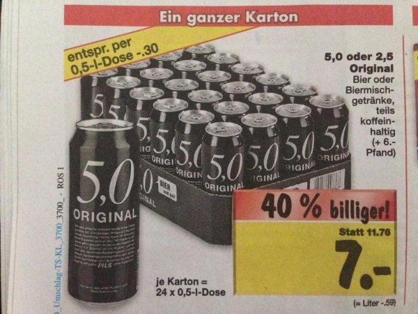 Ganzer Karton 5.0 oder 2.5 Original Bier oder Biermischgetränke [Kaufland Rostock Lokal?]
