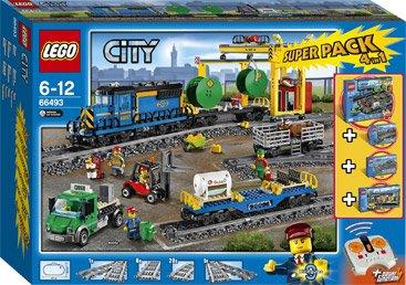 LEGO 66493 Güterzug Superpack (60052, 60050 + Extra Schienen) @ intertoys.de