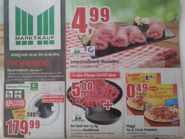 Marktkauf Stade [evtl Bundesweit] 1,5 kg Hackfleisch + Gratis Pfanne