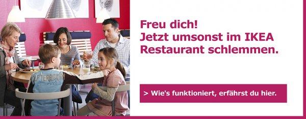 [Lokal Schweiz] Ikea - Einkauf ab CHF 20 und gratis im Restaurant essen