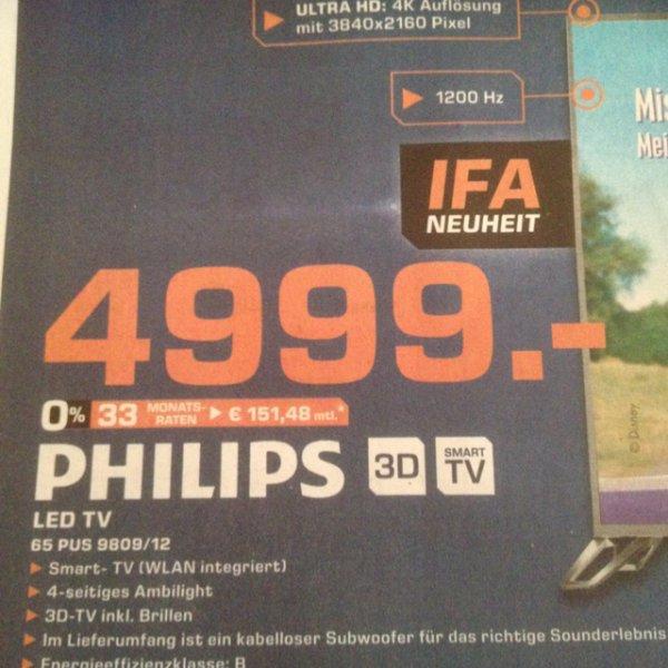 [Lokal Saturn Bocholt] Philips LED TV 65 PUS 9809/12