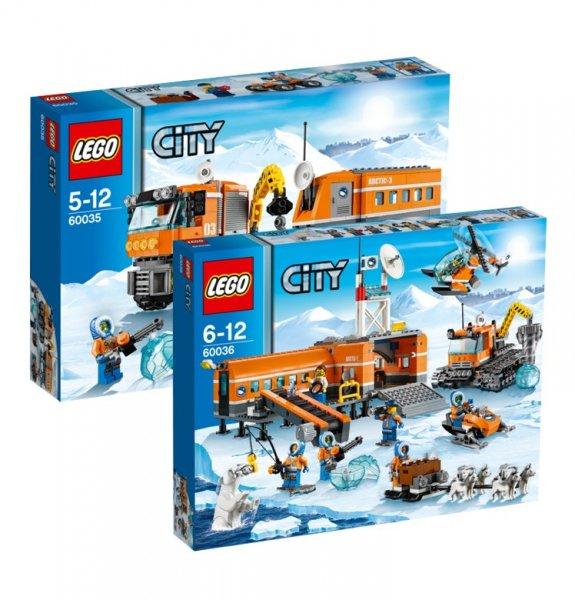 LEGO City Set Arktis Truck 60035 & Arktis Basislager 60036 @galeria kaufhof