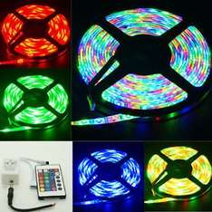 5M 300LED Streifen SMD 3528 RGB LED Light Strips + 24Key LED Controller