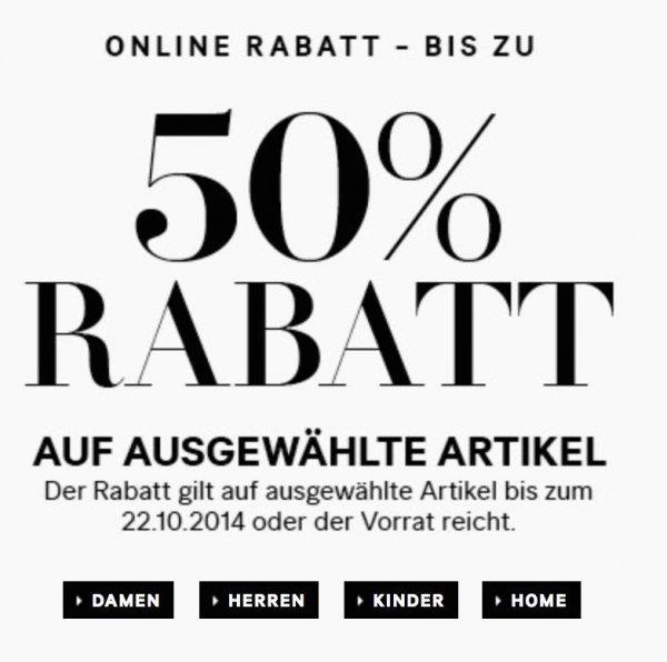 [H&M ONLINE SHOP] 50% Rabatt auf Herbst-Styles