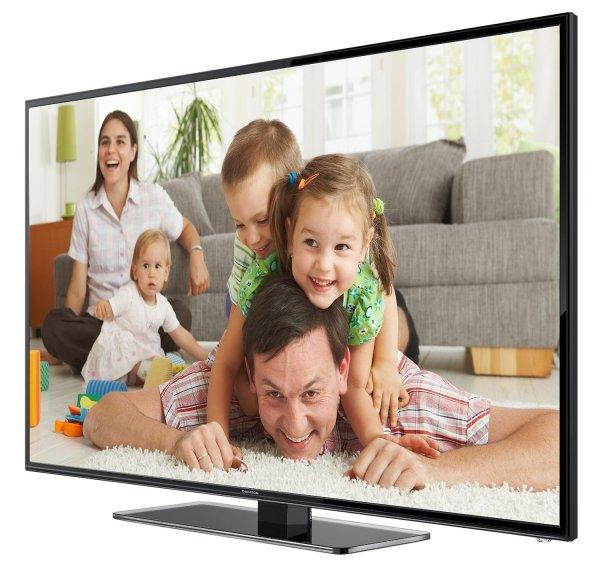 Amazon Blitzangebot: Thomson 48FZ3233 122 cm (48 Zoll) LED-Backlight Fernseher, EEK A+ (Full HD, 100Hz CMI, DVB-C/T, 2x HDMI, CI+, 2x USB 2.0, SCART, Glasfuß, Hotelmodus) schwarz @ 599,99 Euro inkl. Versand