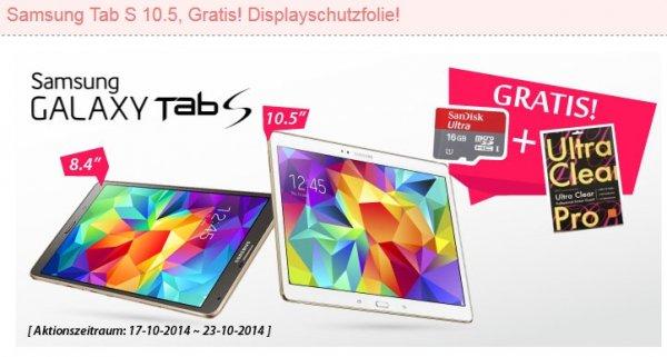 Samsung Galaxy Tab S 10.5 T800 16GB Wifi - Titanium Bronze für 409.99€ + 16GB SD und Displayschutzfolie @eglobalcentral(China)