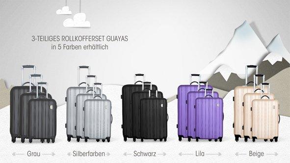 Travel one Cabourg 4-Rollen-Trolley-Set 3-tlg. 50/60/70 cm verschiedene Farben  für 149,-@vente-privee