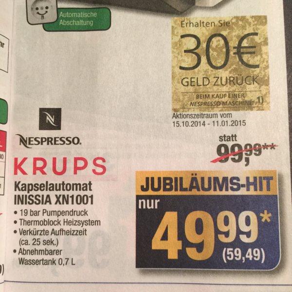 [Metro] Nespresso Krups INISSIA Kapselautomat nur 29,49€!!