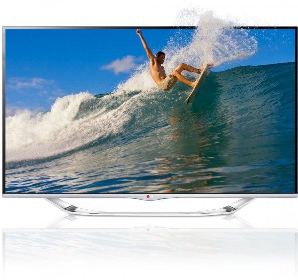 LG 55LA7408 139 cm (55 Zoll) Cinema 3D LED-Backlight-Fernseher, EEK A+ (Full HD, 800Hz MCI, WLAN, DVB-T/C/S, Smart TV) silber