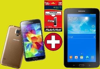 SAMSUNG Galaxy S5 16GB inkl. Tab3 7.0 Lite & Media Markt Smartphone Tarif für 444€ | Versandkostenfrei @ MM Online
