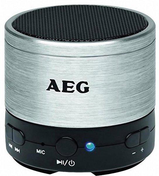 AEG Bluetooth-Lautsprecher Alusilber BSS 4826 [voelkner]