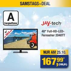 "NUR AM 25.10. // [METRO] // 40"" Full-HD & LED-TV // 199.99€ brutto"