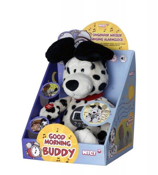 Nici 34215 - Spielzeug-Hund mit Weckerfunktion (40cm) - 'Good Morning Buddy'
