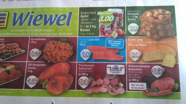 [lokal] Edeka Wiewel Ahlen (Westf.) 5 kg Zwiebeln 1,49 €