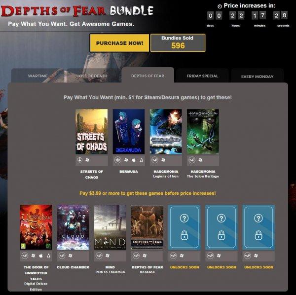 [Steam] Indie Gala Depths Of Fear Bundle