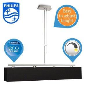 Philips myLiving Ely Deckenleuchte mit 4 x 42 W Energiesparleuchtmittel - Philips EcoClassic / 85,90€ inkl. Versand