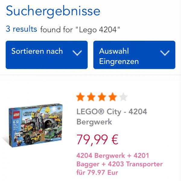 Lego Bergwerk Set