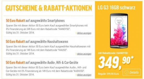 LG G3 für 357,89 inkl. bei notebooksbilliger.de