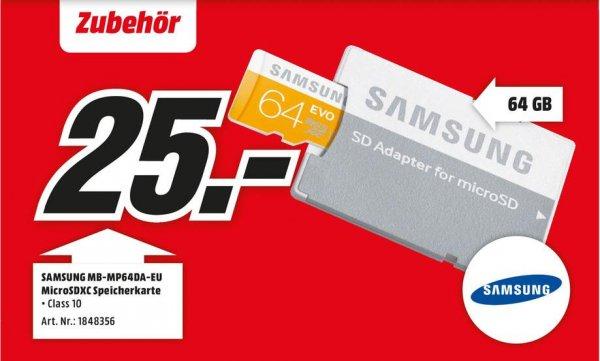 Lokal? - Mediamarkt Samsung Memory 64GB EVO MicroSDHC (MB-MP64DA) - 25€