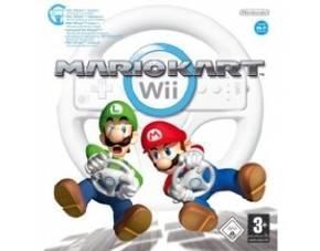 NINTENDO Wii MARIO KART Rennspiel inkl. Lenkrad-Controller 26,90 € inkl. Versand