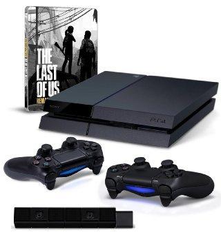 Wieder da! [Amazon.de] - Playstation 4 mit 500 GB und Controller + 1 Extra Controller + Camera + Last of Us Remastered - Steelbook Edition