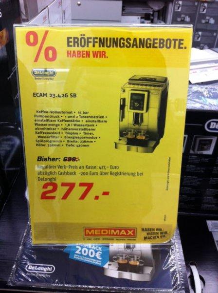 [Lokal Berlin Ringcenter Medimax] DeLonghi Kaffeevollautomat ECAM 23.426 SB (Dealpreis beinhaltet bereits 200€ Cashback)