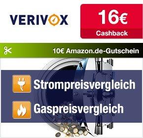 [Qipu] Verivox: 16€ Cashback + 10€ Amazon Gutschein bis 06.11