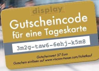 "Freikarte (Tagesticket) für die Messe ""VISCOM 2014"" in Frankfurt (5.-7.November)"