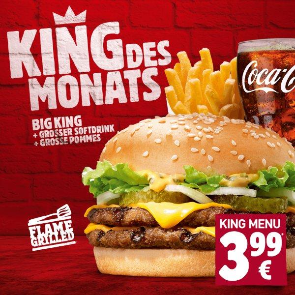 Big King als King des Monats bei Burger King für 3,99 €