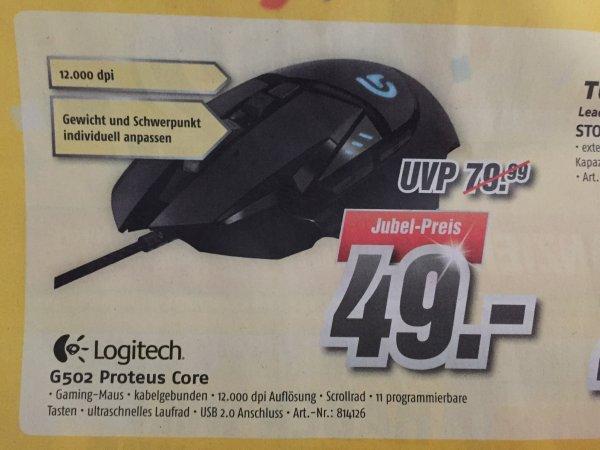 Logitech G502 Proteus Core Gaming Maus (lokal Gera MediMax) 49 Euro