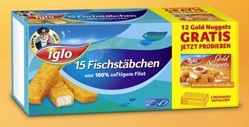 [NETTO MD] Iglo Fischstäbchen 15 Stk. + Gratis Iglo Gold Nuggets 12 Stk. für 2,22€ (29.10.-01.11.)