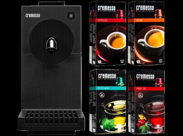 Cremesso Uno Kapselmaschine + 4 Packungen Kaffee / Tee für 33,99€