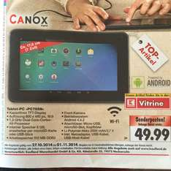 "[Kaufland] Canox Tablet PC ""pc755n"""