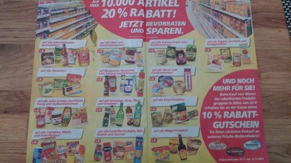 [Real] 20 Prozent Rabatt auf fast alle Vorrats-Lebensmittel