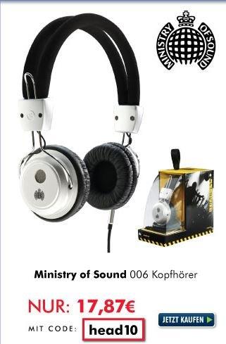 Ministry of Sound Kopfhörer MOS006 silver-black @ Zoombits