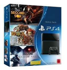 Playstation 4 Bundle mit InFamous, Knack und Killzone
